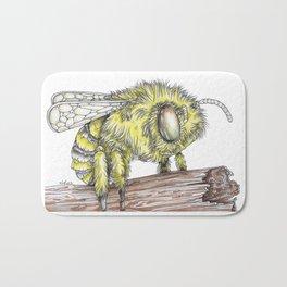 The Fluffy Bee Bath Mat