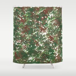 Green & Brown Camo Camouflage Hunting Invisible Military Shower Curtain