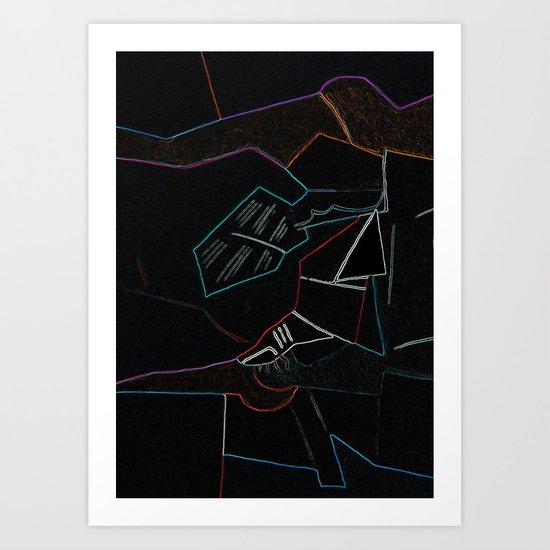 Cubist Trails Art Print
