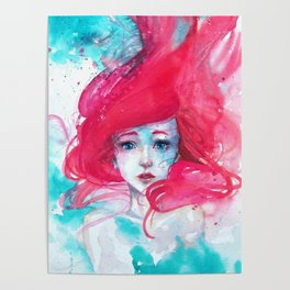 Princess Ariel - Little Mermaid has no tears Poster