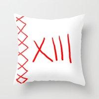 tokyo ghoul Throw Pillows featuring Juuzou (Tokyo Ghoul)  by Kourt Drawz