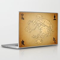 airbender Laptop & iPad Skins featuring Avatar Last Airbender Map by KewlZidane
