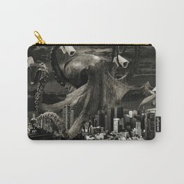 Modern Freedom Black and White Carry-All Pouch