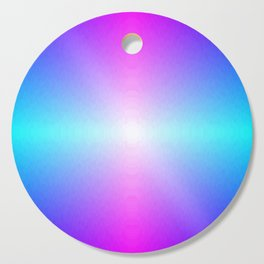 Purple, Pink, Blue and White Ombre flame pattern Cutting Board