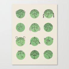 green faces Canvas Print
