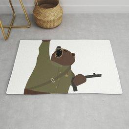 Soviet bear red army infantry ww2 Rug