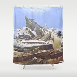 The Sea of Ice - Caspar David Friedrich Shower Curtain