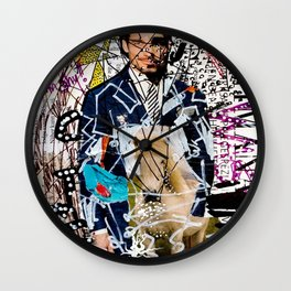 I am Shy - Magazine Collage Painting Wall Clock