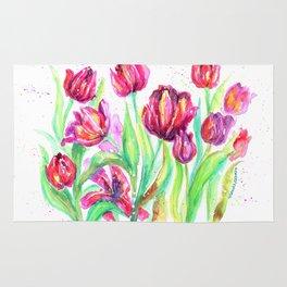 Tulips in Spring Rug
