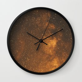 The Milky Way (Forest Landscape Photography, Starry Night Sky Photo) Wall Clock