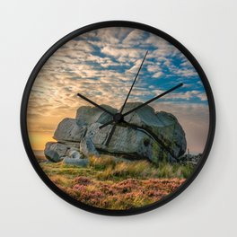 Sunset by Hitching Stone Wall Clock