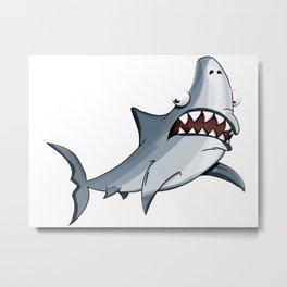 Shark cartoon Metal Print