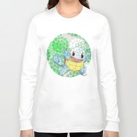 squirtle Long Sleeve T-shirts featuring Squirtle by Mischievie