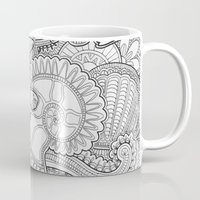 life aquatic Mugs featuring aquatic life by Georges Mouchà