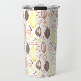 Abstract Watercolor Pattern Travel Mug