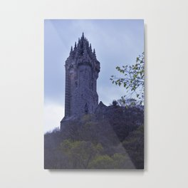 William Wallace Monument in Scotland Metal Print
