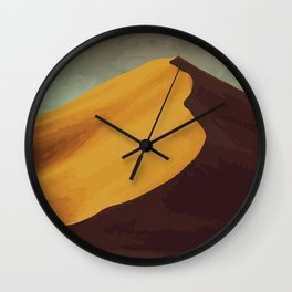Athabasca Sand Dunes Poster Wall Clock