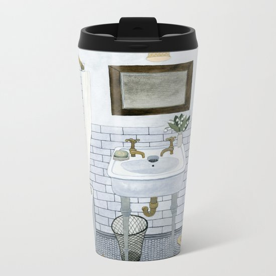 In The Bathroom Metal Travel Mug