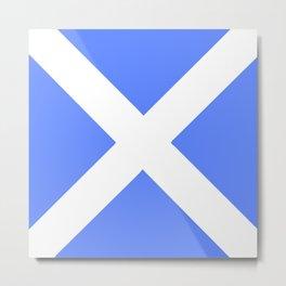 flag of scotland 4– scotland,scot,scottish,Glasgow,Edinburgh,Aberdeen,dundee,uk,cletic,celts,Gaelic Metal Print