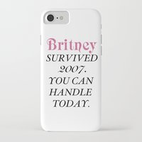 britney iPhone & iPod Cases featuring Britney Survived, Britney. by eriicms