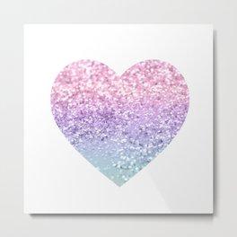 Unicorn Girls Glitter Heart #1 #shiny #pastel #decor #art #society6 Metal Print