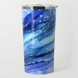 Cracked Blue Marble Travel Mug