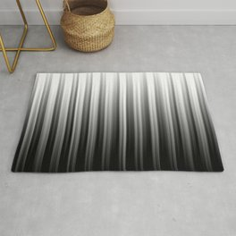 Black And White Soft Blurred Vertical Lines - Ombre Abstract Blurred Design Rug