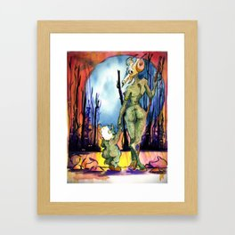 Walk In The Deadwoods Framed Art Print