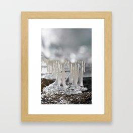 Icicles gallery Framed Art Print