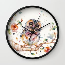 Yep, Cute Is My Middle Name (Owl) Wall Clock
