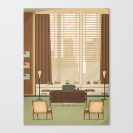 Mad Men - Don Draper's Office Canvas Print