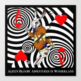 White Rabbit Vortex Canvas Print