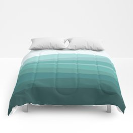 Deep green water, wave pattern, digital illustration Comforters
