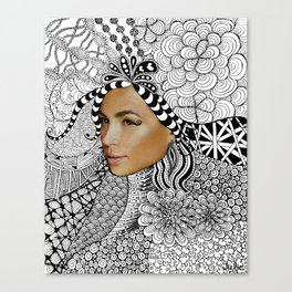 Tangled Face Canvas Print