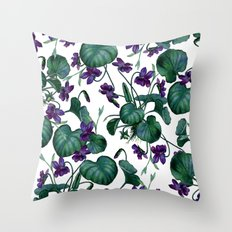 Violets #society6 #decor #buyart Throw Pillow