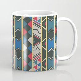 Ndebele red, yellow, blue Coffee Mug