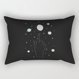 Whisper - Moon Phase Illustration Rectangular Pillow