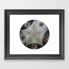 Galactic Pentagram (ANALOG zine) Framed Art Print