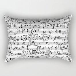 Hand Written Sheet Music Rectangular Pillow