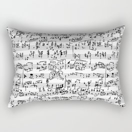 Hand Written Sheet Music Rectangular Pillow