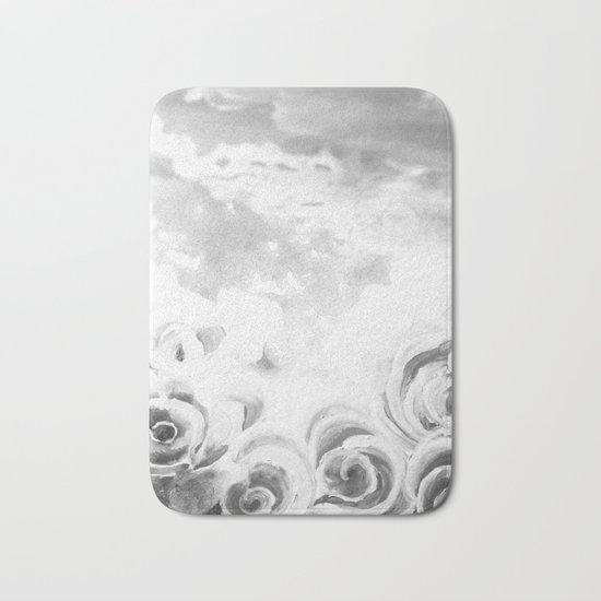 Fading Roses Silver Lining Bath Mat
