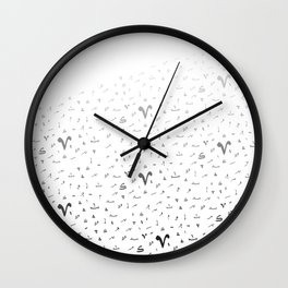 Arabic Tashkeel B&W Wall Clock