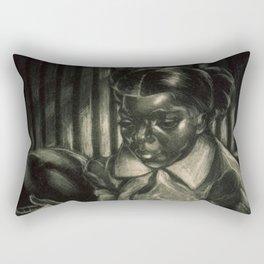 African American Cartograph Masterpiece 'Life' by Dox Thrash Rectangular Pillow
