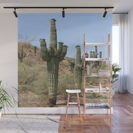 A Cacti in the Desert Wall Mural