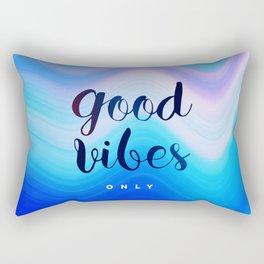 Good Vibes #homedecor #cool #positive Rectangular Pillow