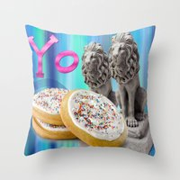 cookies Throw Pillows featuring COOKIES! by Aldo Couture