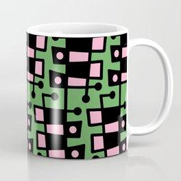 Mid Century Modern Abstract 212 Green and Pink Coffee Mug