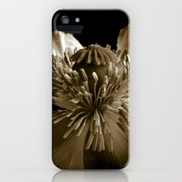 Sepia Poppy Portrait iPhone Case
