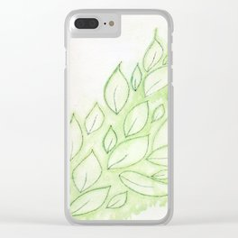 Floating Leaves Clear iPhone Case