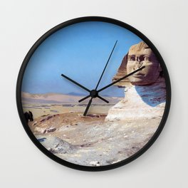 Bonaparte Before The Sphinx - Digital Remastered Edition Wall Clock
